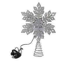 Winter Lane Color-Changing LED Snowstorm Effect LED Tree Topper