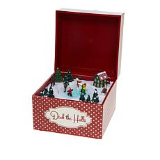 "Winter Lane Embellished Music Box - ""Deck the Halls"""