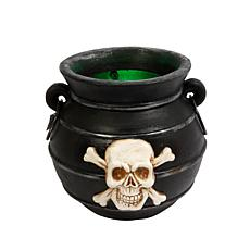 Winter Lane Lit Color-Changing Smoking Witches Cauldron