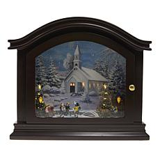 Winter Lane Mantelpiece Music Box