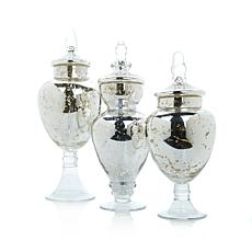 Winter Lane Set of 3 Apothecary Jars