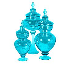 Winter Lane Set of 3 Apothecary Jars with Lids