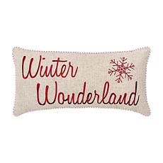 Winter Wonderland Embroidered Pillow