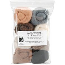 Wistyria Editions Set of 8 Ultra Fine 100% Wool Yarn