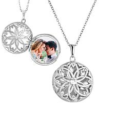 "With You Lockets™ Sterling Silver ""Helen"" White Topaz Locket"