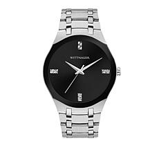 Wittnauer Men's Diamond Silvertone Black Dial Modern Watch