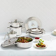 Wolfgang Puck 13-piece Stainless Steel Cookware Set