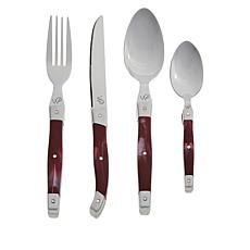 Wolfgang Puck 24-Piece Stainless Steel Flatware Set