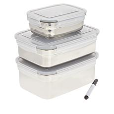 Wolfgang Puck 6-piece Stainless Steel Food Storage Set