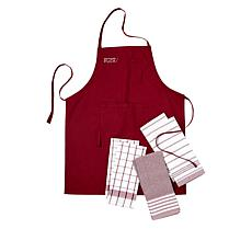 Wolfgang Puck 7-piece Apron and Kitchen Towel Set