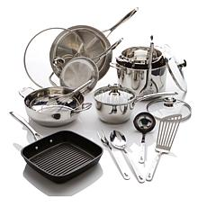 Wolfgang Puck Bistro Elite 17pc Stainless Cookware Set
