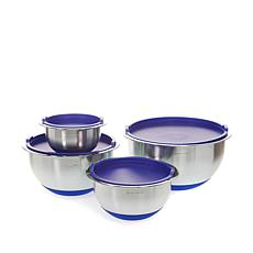 Wolfgang Puck Stainless Steel 8-piece Mixing Bowl Set with Lids
