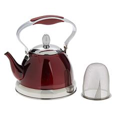 Wolfgang Puck Stainless Steel Petite Kettle and Tea Pot with Infuser