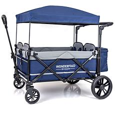 Wonderfold Wagon Pull and Push Quad Stroller Wagon 4-Seater