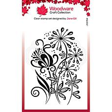 """Woodware Clear Singles 4"""" x 6"""" Stamp - Curly Petals"""