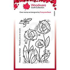 """Woodware Clear Singles 4"""" x 6"""" Stamp - Flower Blooms"""