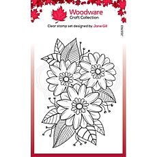 """Woodware Clear Singles 4"""" x 6"""" Stamp - Passion Flower"""