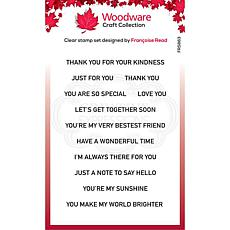 """Woodware Clear Singles 4"""" x 6"""" Stamp - Thoughtful Strips"""