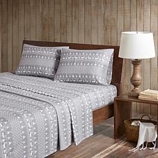 Woolrich Flannel Cotton 4-piece Queen Sheet Set