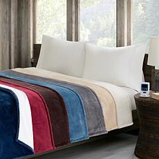 Woolrich Heated Plush-to-Berber Knitted Heated Blanket