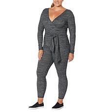 WVVY Rib-Knit Mock-Wrap Jumpsuit