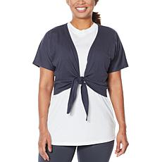 WVVY Short-Sleeve Tie-Front Top