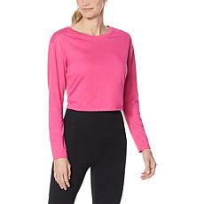 WVVY Tie-Back Keyhole Long-Sleeve Top