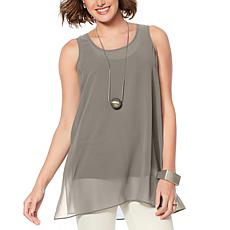 WynneLayers Chiffon Tunic Tank
