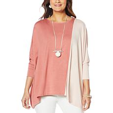WynneLayers Knit Colorblock Boxy Tee