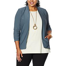 WynneLayers Luxe Crepe Collarless Blazer