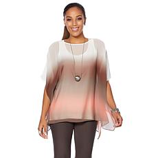 WynneLayers Ombre Lightweight Pullover Poncho