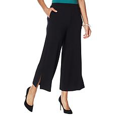 WynneLayers Pull-On Knit Wide Leg Crop Pant