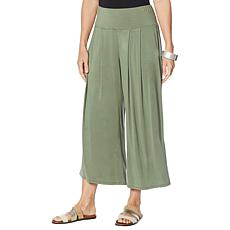WynneLayers Pull-On Pleated Crop Palazzo Pant