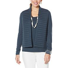 WynneLayers Quilted Soft Knit Sweater Jacket