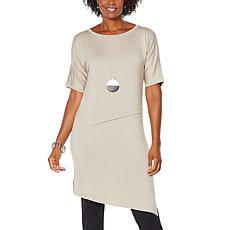 WynneLayers Short Sleeve Panel Knit Dress