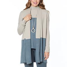 WynneLayers Soft Knit Colorblocked Cardigan