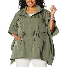 WynneLayers Spring Poncho Jacket with Hood