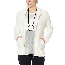 WynneLayers Sweater Knit Bomber Jacket