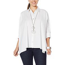 WynneLayers Unconstructed Button-Up Poplin Shirt