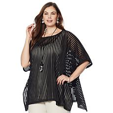 WynneLayers Vertical Sheer Stripe Top
