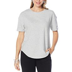 WynneLounge French Terry Short-Sleeve Tee