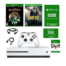 "Xbox One S 1TB 4K  Console w/""Sea of Thieves"" and ""A Way Out"" Games"