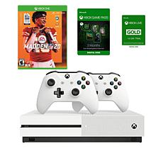 Xbox One S 1TB Console with Madden NFL 20 and Headset