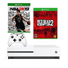 Xbox One S 1TB NBA 2K19 Console Bundle w/Red Dead Redemption 2 Game