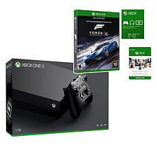 "Xbox One X 1TB 4K Console Bundle with ""Forza Motorsport 6"" Game"