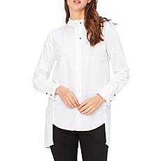 XCVI Lina Ruffle Button-up Top