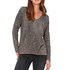 XCVI Margray Leopard-Printed Camari V-Neck Top