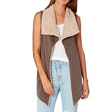 XCVI Toulouse Slub Terry and Faux Sherpa Vest