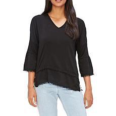 XCVI Voile Fringed Top - Solid