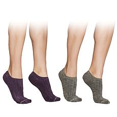 Yummie 2-pack Reversible Soft No-Show Socks